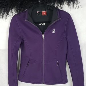 SPYDER winter full zip purple jacket sweater